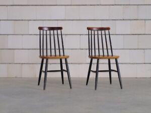 SET 2 TAPIOVAARA STÜHLE Sprossenstühle Stuhl Mid-Century 60er/70er Jahre Vintage