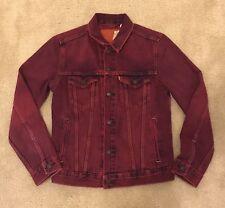 Levis Pink Magenta Jacket Men M Medium Trucker Denim Supreme New York Retail $90