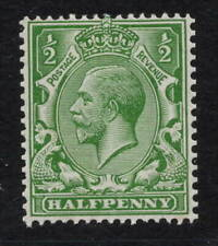 GV - 1913. SG397. 1/2d brt green. Multiple cypher. Mint with excellent perfs.