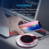 QI Wireless Fast Charger Charging Dock Power Pad For iPhone X 8/8P Galaxy Sale
