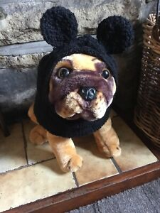 New, Handknitted Mouse Ear  Balaclava For  Dogs, Fit Large Pug Etc