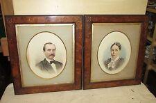 Pair Antique Victorian Burl Walnut Picture Frames