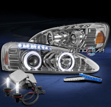 2004-2008 PONTIAC GRAND PRIX HALO LED PROJECTOR HEADLIGHTS CHROME W/BLUE DRL+HID