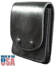 Black Leather Concealment Case|Multipurpose Hidden Gun Holster Glock 19/26/27