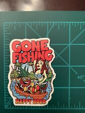 Sexy Gone Fishing Skate Skateboard Sticker Laptop Cell Phone Decal Cb