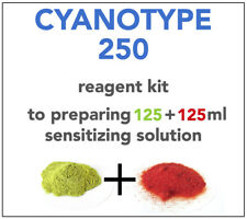 CYANOTYPE KIT (for 125+125ml) ALL YOU NEED TO SENSITIZE 65+ A4 SHEETS