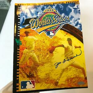 Joe Torre Signed Official 1996 Yankees World Series Program Steiner COA