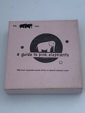 2 Vintage 1952 A Guide to Pink Elephants Drink Bar books Vol 1& 2