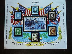 Stamps - Burkina Faso (Upper Volta) - Scott# 367a - Souvenir Sheet -Imperf - CTO