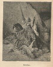 A9615 Saladino - Xilografia - Stampa Antica del 1906 - Engraving