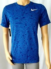 Nike Dry-Fit Mens Training Crew Neck T-Shirt Blue (Size M) NEW WITH TAG