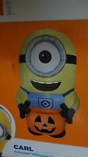 GIANT MINION HALLOWEEN GEMMY AIRBLOWN INFLATABLE LIGHT UP YARD DECOR PROP new