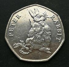 Rare 2018 50p Coin – Peter Rabbit eating carrots & radishes – Beatrix Potter