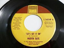 Marvin Gaye Let's Get It On / I Wish It Would Rain 45 1973 Tamla Vinyl Record