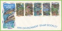 New Zealand 1995 Environment Stamp Booklet First Day Cover
