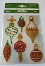 Recollections Holiday Cheer Glitter Stickers 12 Pcs
