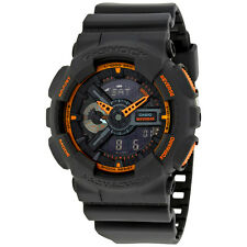 Casio G-Shock Grey and Orange Resin Mens Watch GA110TS-1A4