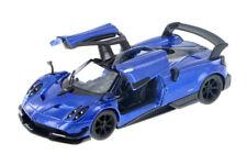 """1:38 Blue Pagani Huayra Bc Kinsmart Diecast Car 5"""" Smaller 1:32"""