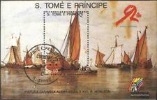 Sao Tome e Principe Block202 (kompl.Ausg.) gestempelt 1989 Schiffahrt