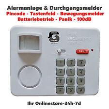 Alarmanlage & Eintrittsmelder mit Bewegungsmelder PIR-ALARM Einbruch Schutz NEU