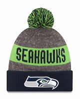 Seattle Seahawks Players Sideline Sports Knit Beanie Cap Hat Authentic New Era