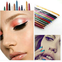 Professional 12 Color Makeup High Light Lip Liner Eyeliner Eye Shadow Pen Pencil