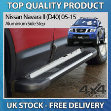 FITS NISSAN NAVARA D40 05-15 ALUMINIUM STRIPED SHERWOOD SIDE STEP RUNNING BOARD