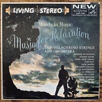 THE MELACHRINO STRINGS MUSIC FOR RELAXATION VINYL LP RCA LSP-1001 VG