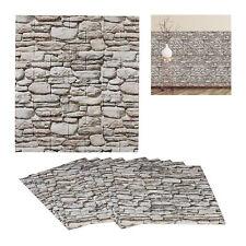 10 x Wandpaneele Steinoptik 3D Wandverkleidung grau Steinpaneele selbstklebend