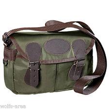 Jagdtasche mit klassischen Lederbesätzen / Wald & Forst - Patronentasche