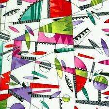 Rio Open Patchwork White Paintbrush Studio Quilting Cotton Geometric Bright