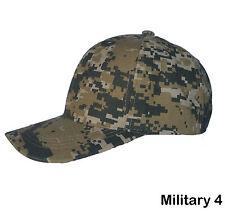 b8564985404 Plain Baseball Cap Blank Velcro Adjustable Solid Hat Curved Visor One Size  Military 4