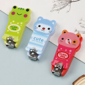 1Pc Baby Nail Clipper Cartoon Finger Trimmer Scissors Nail Cutter with Keych L4