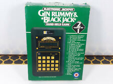 Entex Jackpot Handheld Electronic Game Gin Rummy BlackJack 1980 Vintage New