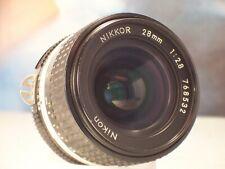 Nikon  nikkor objectif 28mm 2.8 AIS