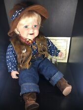 """Show-Stoppers Neighborhood Kids Collection """"Dallas"""" Porcelain Cowboy Baby Doll"""