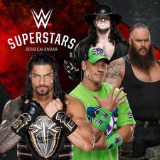 WWE Superstar 2019 Wall Calendar Roman Reigns, AJ Styles, The Undertaker, John