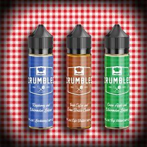 Crumbles E-liquids Short Fill | 70% VG Vape Juice | Premium American Flavours
