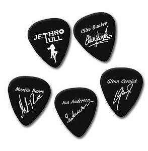 Jethro T ull signature print plectrum guitar pick picks Clive Martin Ian Glenn