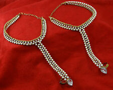Pearl Toe Anklet Wedding Jewelry New Goldtone Women Barefoot Ankle Traditional