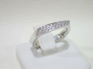 TIFFANY & CO. Frank Gehry 18k white gold Torque ring with diamonds size 6