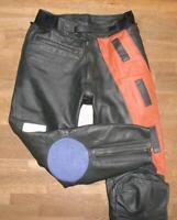 >>> Motorrad - KOMBIHOSE / Biker- Lederhose in schwarz- orange Gr. 48