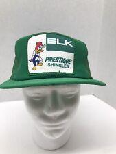 Trucker hat baseball cap ELK PRESTIQUE SHINGLES WOODY WOODPECKER VTG snapback