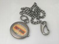 Roxy QuikSilver Pocket Watch Silver Tone Chain Analog Watch