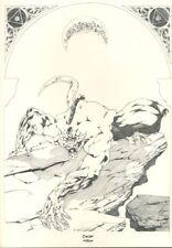 Ex-libris Offset Garous Loup-Garou (crayonné) Folle Image