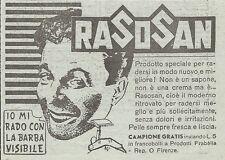 W1243 RASOSAN mi rado con la barba visibile - Pubblicità 1947 - Vintage Advert
