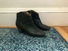 Isabel Marant Black Leather Dicker Boots Size 41