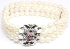 ♦♦ 14kt 585 Perlenarmband Damen Goldarmband Perlen Schmuck Armband Gold Perle ♦♦