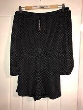 Boohoo Womens Playsuit Size 12 Polka Dot