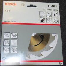 BOSCH TCT CIRCULAR SAW BLADE 150 X 16mm 12T - D 46 L
